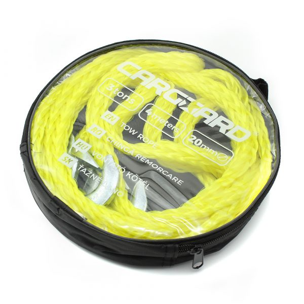 Vlečna vrv - max. 3000 kg - 4 m - rumena