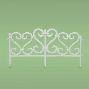 Vrtna mejna ograja velikosti 62 x 32 cm iz plastike