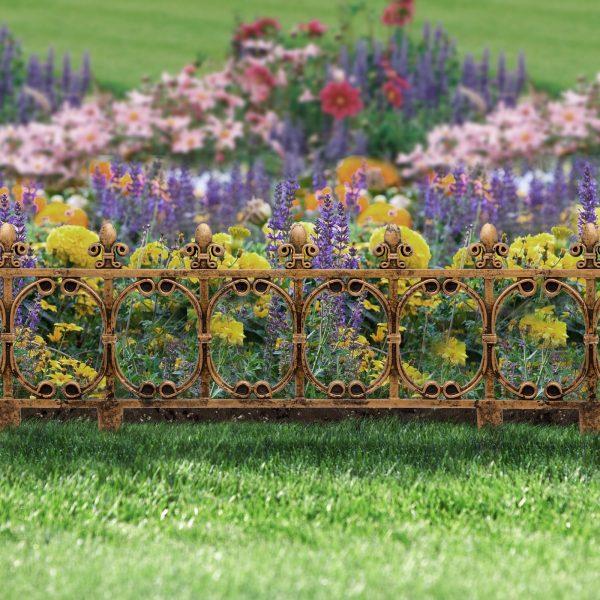 Vrtna mejna ograja velikosti 63 x 33,5 cm iz plastike