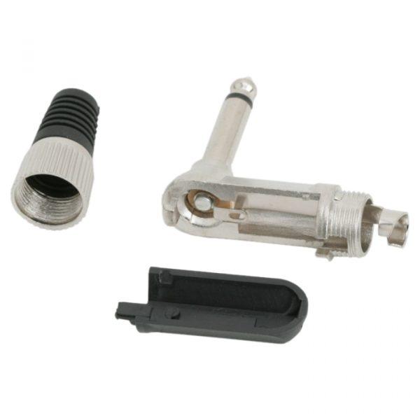Vtič JACK 90 ° - robustna različica - mono • 6,3 mm