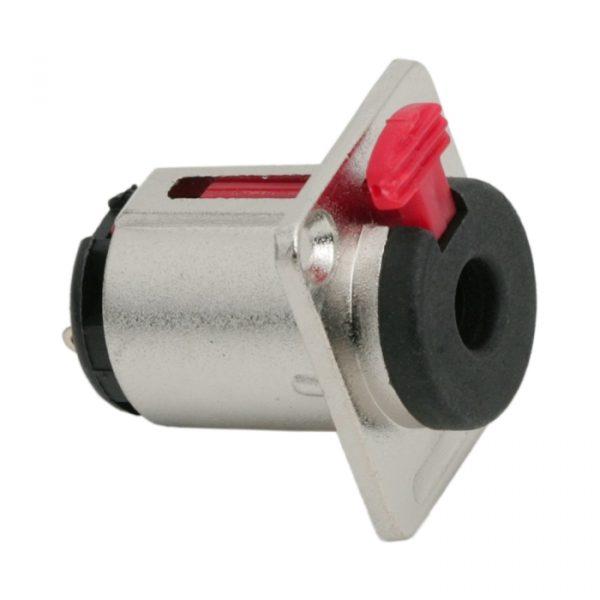 Vtičnica JACK z varnostno ključavnico - stereo • 6,3 mm
