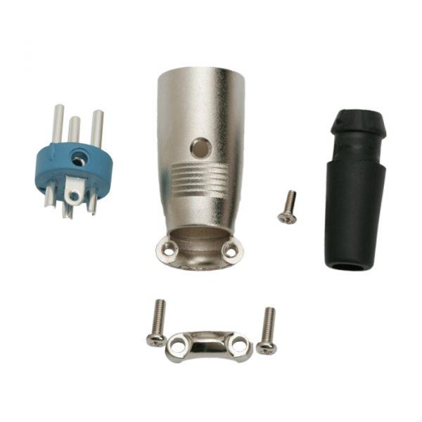 XLR vtič • 3 poli - vijak - gumijasta zaščita