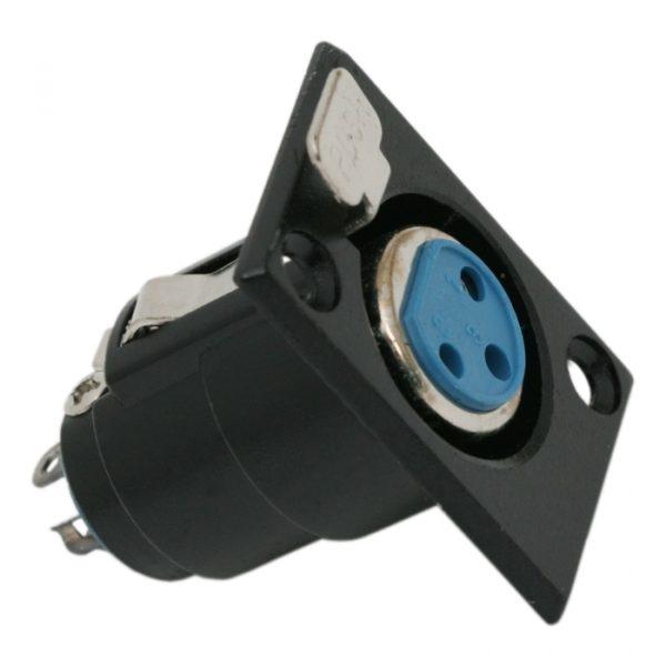 XLR vtičnica • 3 poli, različica za pritrditev na plošče