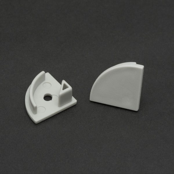 Zaključek za LED aluminijasti profil 41012 - par