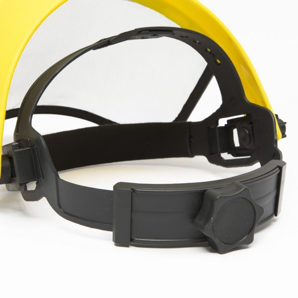Zaščitni obrazni ščit z jekleno mrežico