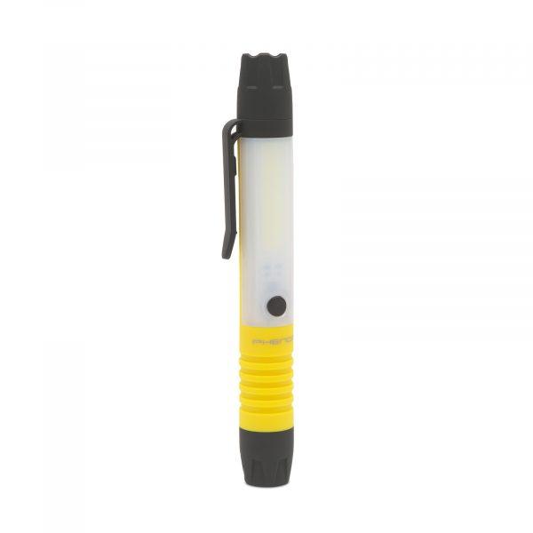 Žepna baterijska COB LED svetilka 2v1 z baterijami