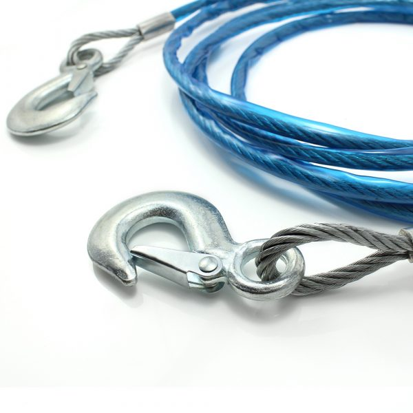 Žična vlečna vrv - max. 2800 kg - 4 m - modra