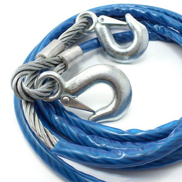 Žična vlečna vrv - max. 5000 kg - 4 m - modra