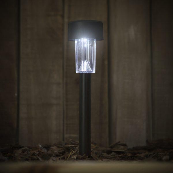 Zunanja plastična solarna LED svetilka - 360 x 55 mm - črna