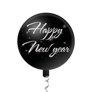 """Baloni """"Srečno novo leto"""" - 45 cm - srebrni"""
