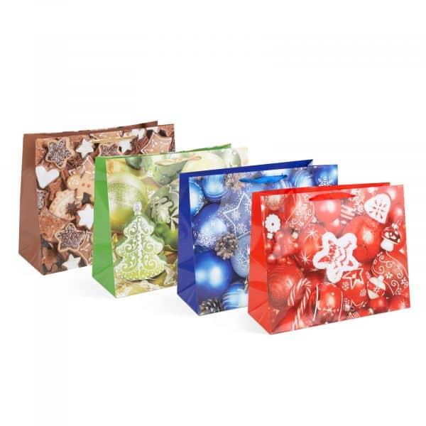 Božična darilna vrečka - 406 x 160 x 330 mm - 12 kosov / paket