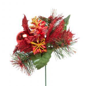 Božični dekor - 21 cm - roza