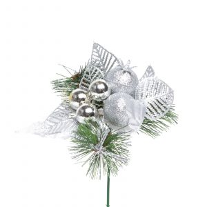 Božični dekor - 21 cm - srebro