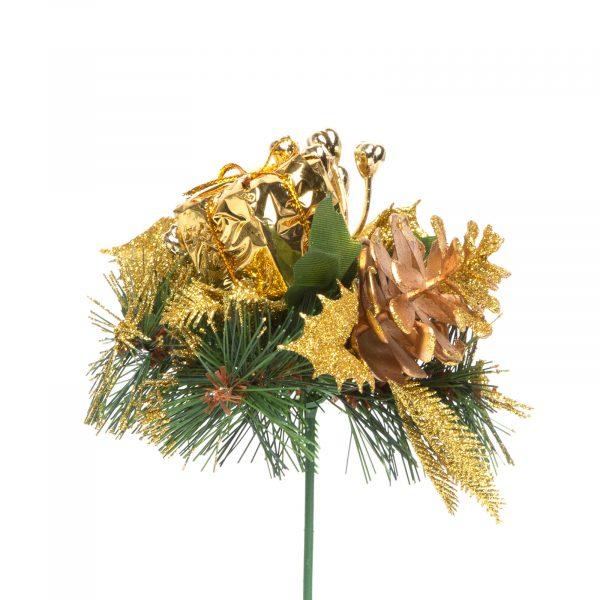 Božični dekor - 21 cm - zlat
