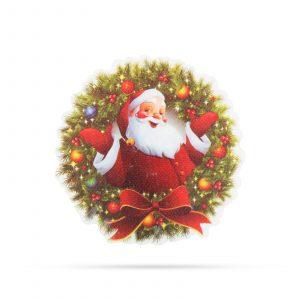 Božični RGB LED dekor - samolepilni - venček