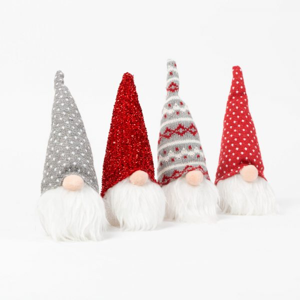 Božični skandinavni gnom - z LED lučko - 4 vrste - 20 cm