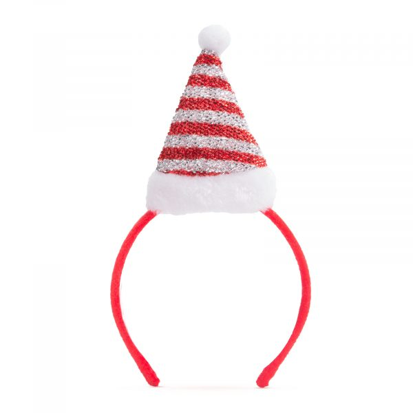 Božični trak za glavo - božičkova kapa