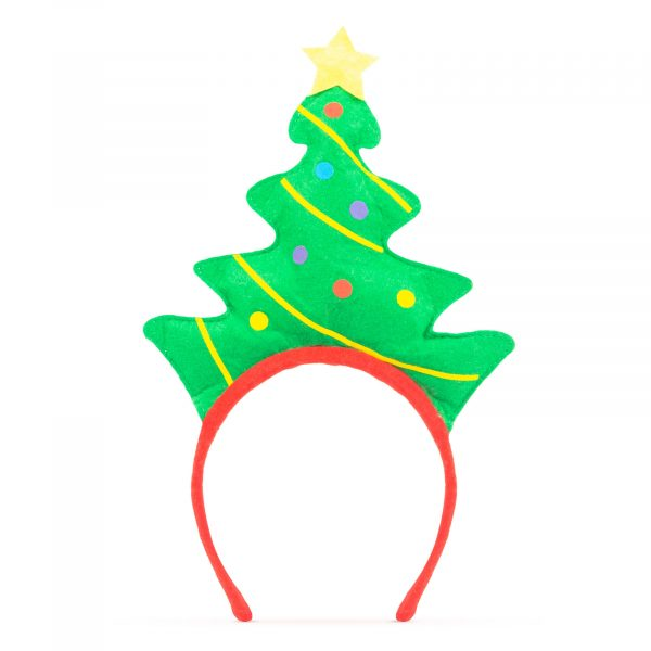 Božični trak za glavo - božično drevo
