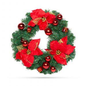 Božični venček - rdeč - 40 cm