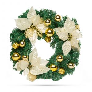 Božični venček - zlati - 40 cm