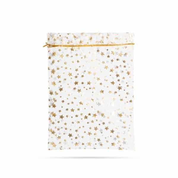 Darilna vrečka iz vrečevine - srebrna, zlata - 23 x 16 cm - 4 kos / paket
