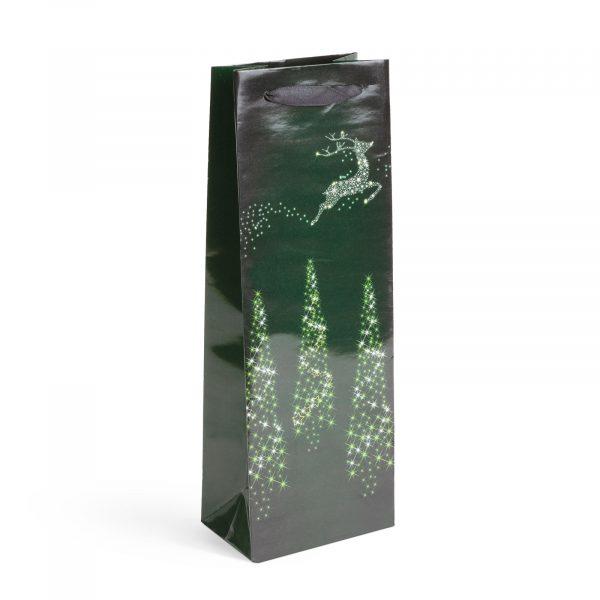 Darilna vrečka za steklenice s tekstilnim ročajem - 127 x 83 x 360 mm - 12 kosov / paket