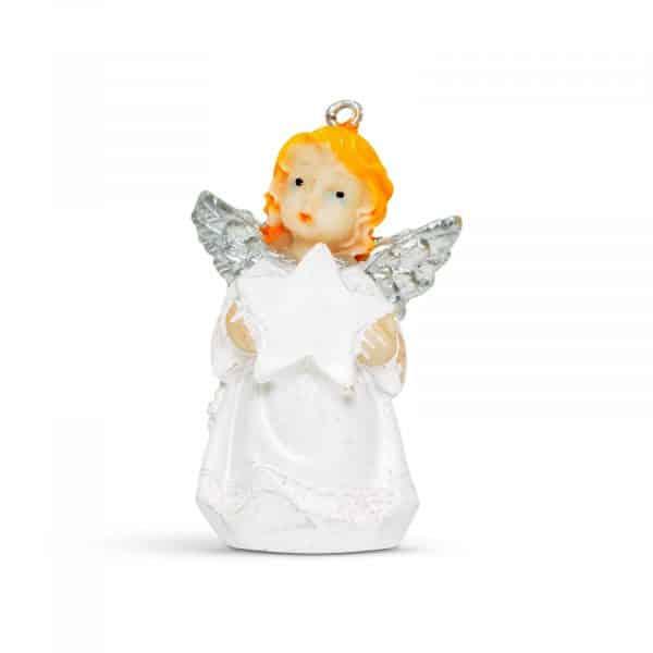 Dekoracija božičnega drevesa - angel - 6 cm