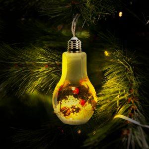 "Dekoracija božičnega drevesa - ""žarnica"" - toplo bela"