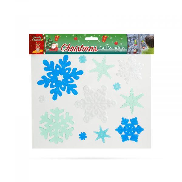 Gel dekoracija za okna - božič - XXL - 5 kosov / paket