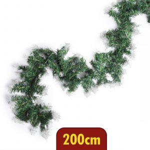 Grilanda - zasneženo zelena, bujna - 200 cm