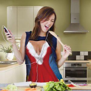 Kuhinjski predpasnik - božič - ženski - 50 x 70 cm