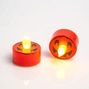 LED čajna svečka - buča - 2 kosa / paket