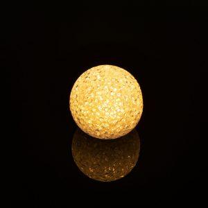 LED kristalna snežna kepa - 6 cm