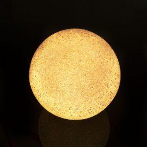 LED kristalna snežna kepa - 8 cm