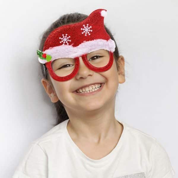 Očala za zabavo - vzorec božičkove kape