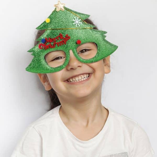 Očala za zabavo - vzorec božične jelke