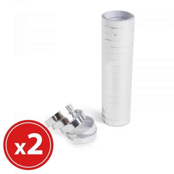 Ovalna serpentina - srebrna - 18 x 2 m - 2 kos / paket