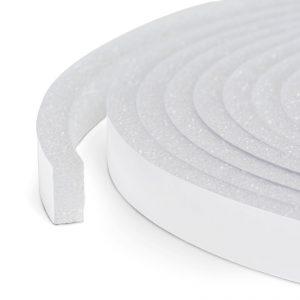 Samolepilni trak za izolacijo vrat in oken - 5 m - beli 10 mm