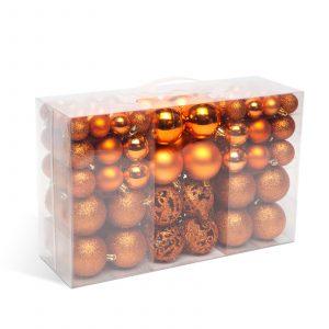 Set za okrasitev božičnega drevesca - kroglice - 100 kosov / paket - bron