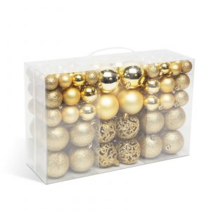 Set za okrasitev božičnega drevesca - kroglice - 100 kosov / paket - zlata