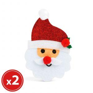 Set za okraskov za božično drevo - božiček - 2 kosa / paket