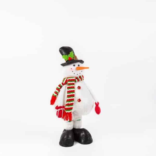 Tekstilni snežak s teleskopsko nogo - 2 vrsti - 80 cm