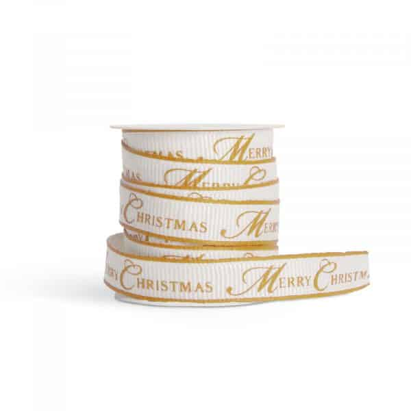 Trak za božične okraske ali darila - 3 m x 10 mm - poliester - zlat