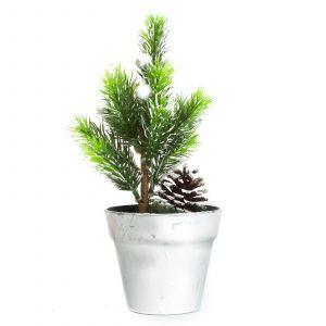 Umetno božično drevo - mini - srebrno - 20cm