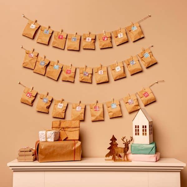 """Vrečke za adventni koledar - """"Naredi sam"""" - 20 x 26 cm"""