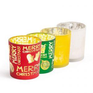 Božična skodelica za čajne svečke - 4 vrste