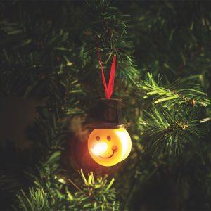 LED čajna svečka - snežak - 2 kosa / paket