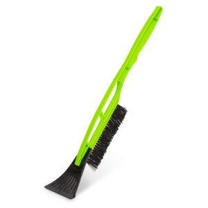 Metlica za sneg s strgalom za led in plastičnim ročajem - 510 mm - zelena