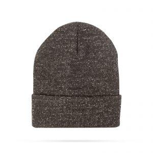 Zimska pletena kapa - črna - bleščeča