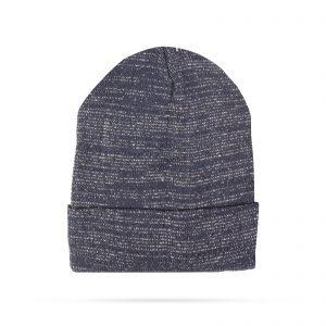 Zimska pletena kapa - modra - bleščeča